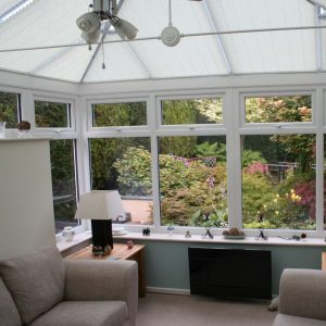 Inside a cool Conservatory.