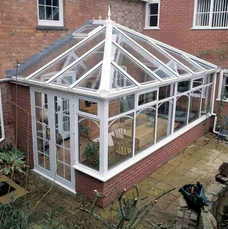 Traditional Edwardian conservatory in PVCu