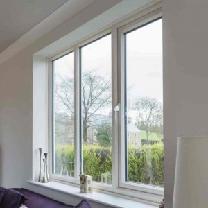 White uPVC window in Nottingham.