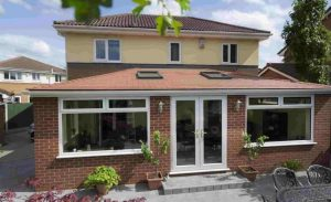 Solid red slate Roof Conservatory
