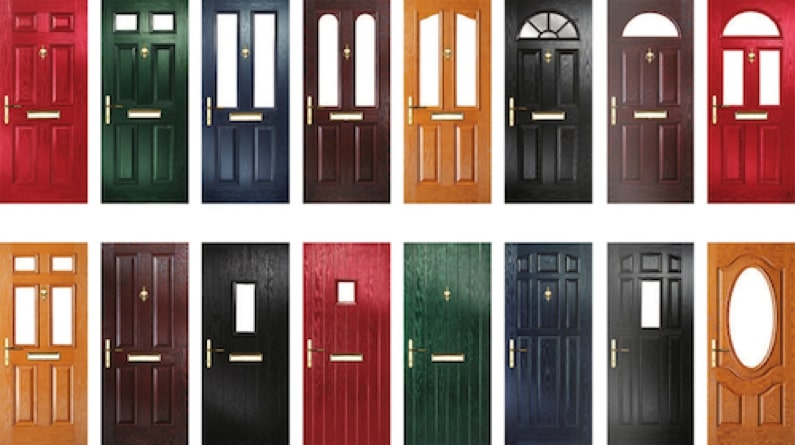 A wide range of doors in different colours