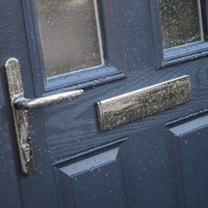 Composite Door in the rain.
