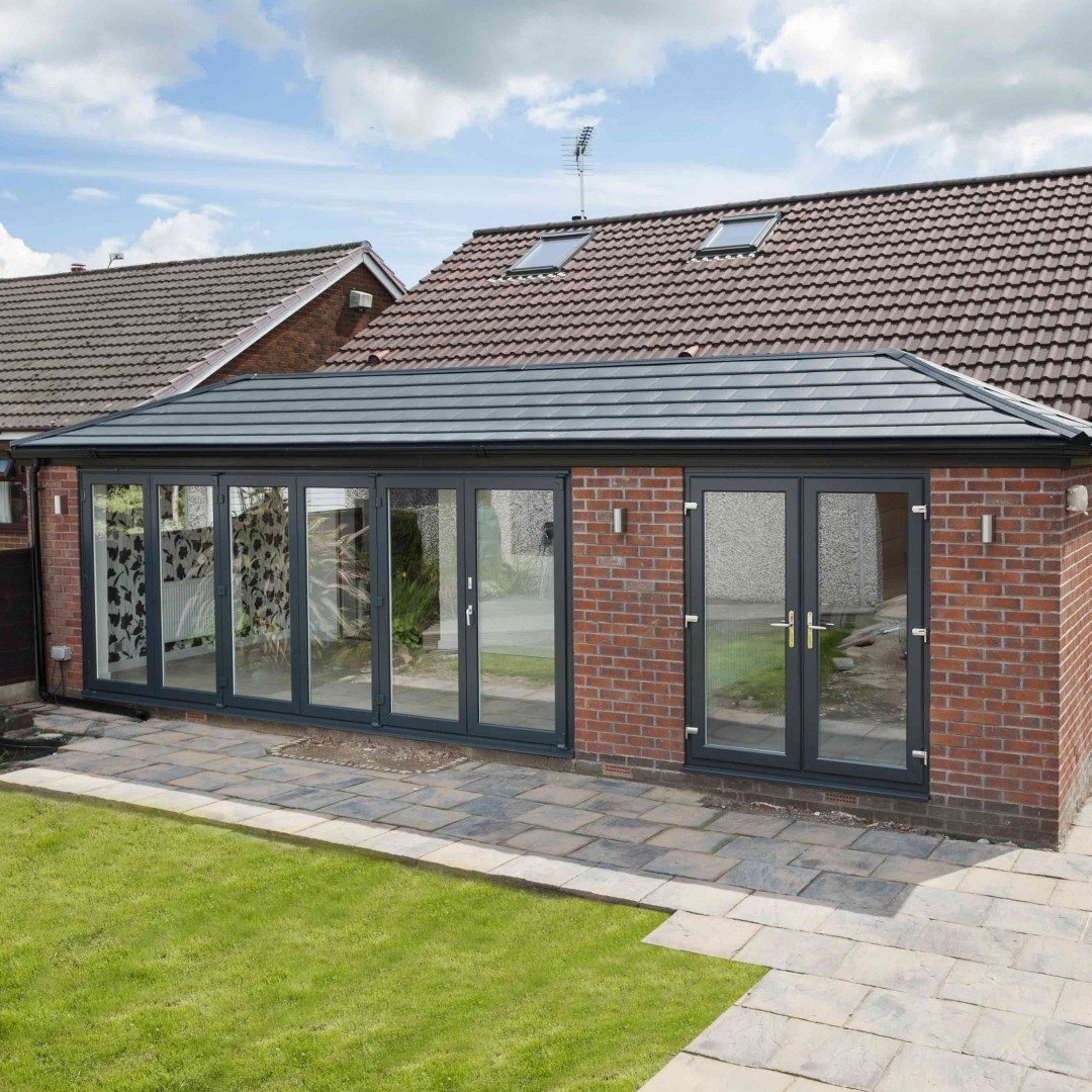 Stormclad Nottingham solid roof conservatory.