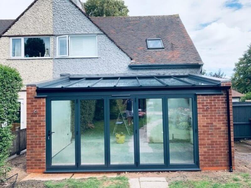 Outside a new build kitchen extension in Mapperley, Nottingham.