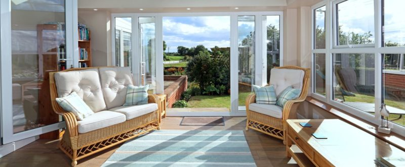 Inside a Bespoke Orangery in Leicestershire.