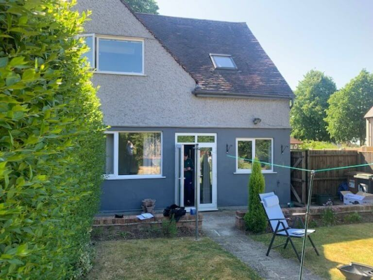Outside home before kitchen extension.