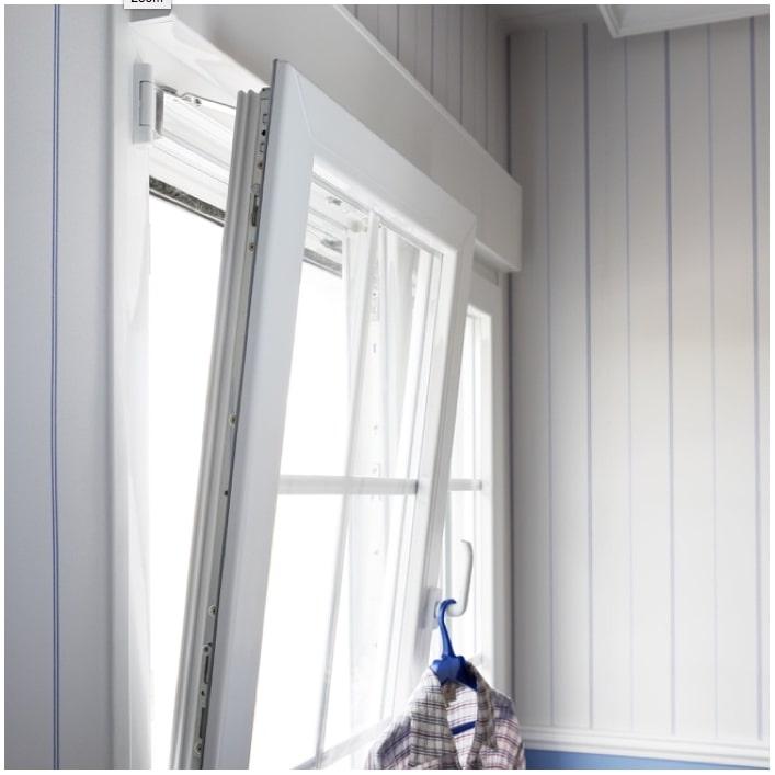 A white window open