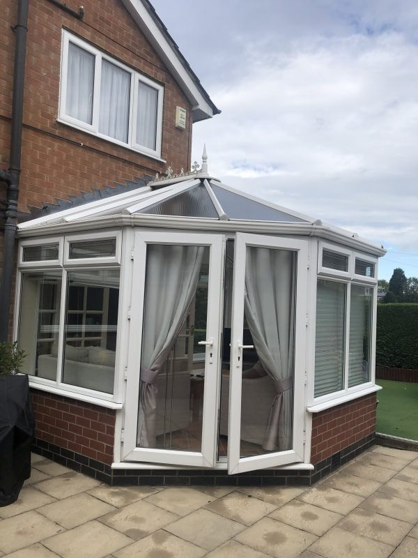 A white conservatory.